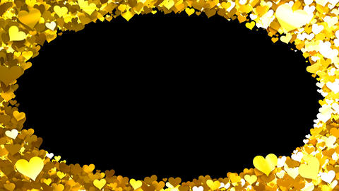Glitter Heart Frame 1 Dh Gold Animation
