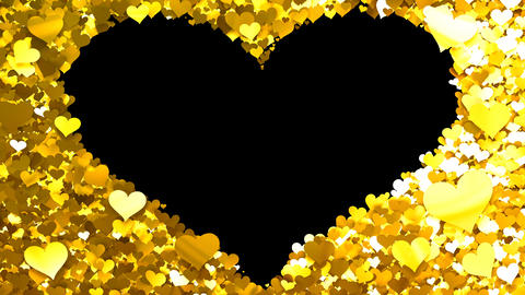 Glitter Heart Frame 1 Hh Gold Animation