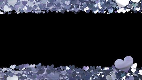 Glitter Heart Frame 1 Sh Silver Animación