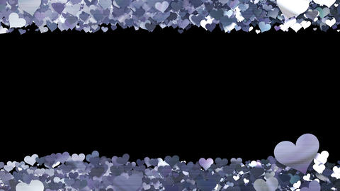 Glitter Heart Frame 1 Sh Silver CG動画素材