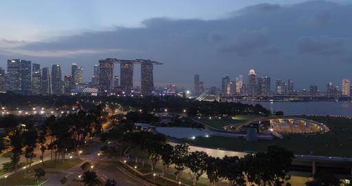 Singapore late in the evening ビデオ