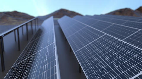 Solar power generating pannels Animation