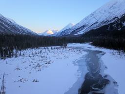Frozen stream in Alaska Tern Lake Alaska フォト
