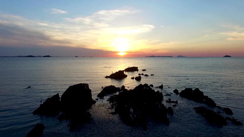 Sunset of Mud Flat in Janghang Songlim Mountain Forest Resort, Seocheon, 실사 촬영
