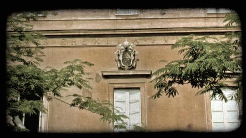 Rome Building 3. Vintage stylized video clip Live Action