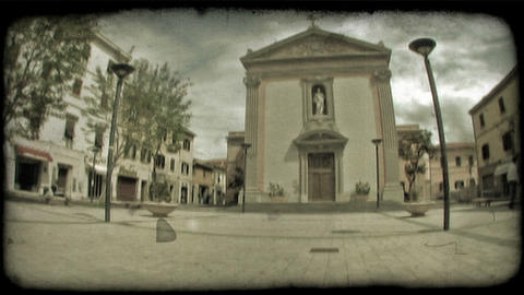 Italian Plaza 4. Vintage stylized video clip Live Action