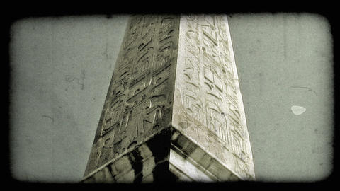 Rome Monument 1. Vintage stylized video clip Footage