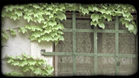 Italian Window. Vintage stylized video clip Footage