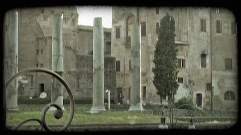 Italian Town 24. Vintage stylized video clip Footage