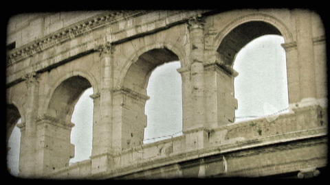 Colosseum 25. Vintage stylized video clip Live Action