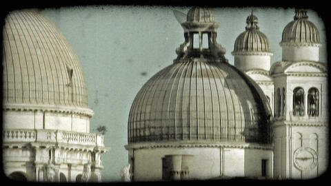 Religious Domes. Vintage stylized video clip Footage