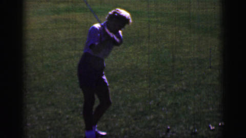 1968: Senior Women Golf Swing Analysis Lessons Practice Professional Style stock footage
