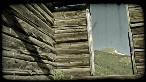 Old cabin in mountains. Vintage stylized video clip ライブ動画
