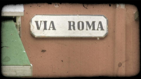 Italian Sign. Vintage stylized video clip Live Action