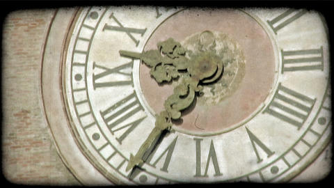Large Clock. Vintage stylized video clip Live Action