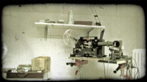 Film Camera 1. Vintage stylized video clip Footage