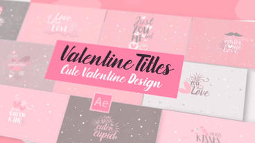 Neo Valentine SVGs Titles After Effectsテンプレート