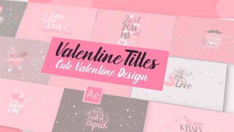 Neo Valentine SVGs Titles After Effects Template