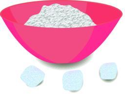 Sugar in a bowl Vector