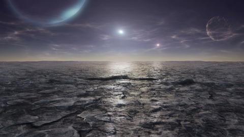 Alien planet timelapse GIF