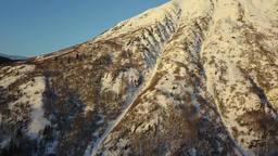 Climbing a ridge on Alaska mountain Footage