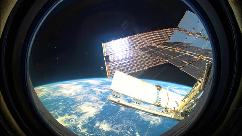 Planet Earth seen from the ISS. Space exploration of planet Earth GIF