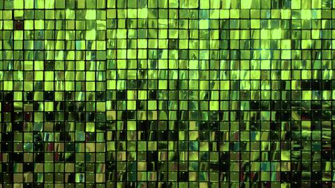 Many shiny green squares Live Action