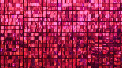 Many shiny red squares Live Action