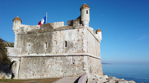 The Bastion Museum In Menton France Footage