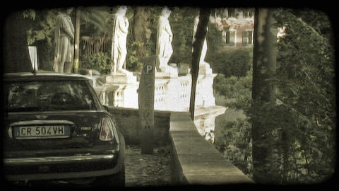 Rome Statue 4. Vintage stylized video clip Footage