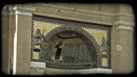 Rome Painting. Vintage stylized video clip Footage
