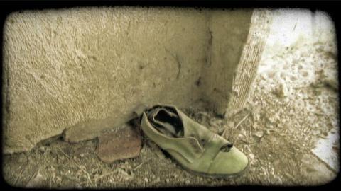 Old Shoe. Vintage stylized video clip Live Action