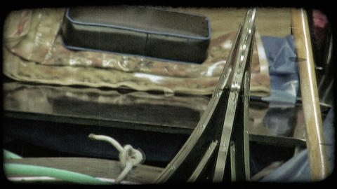 Gondola Boat 2. Vintage stylized video clip Live Action