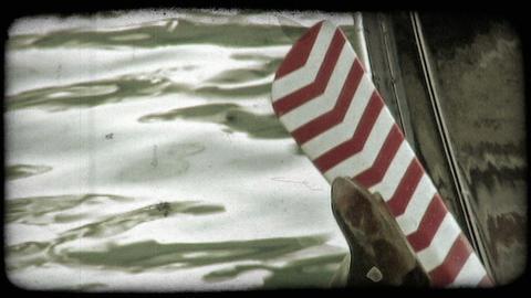 Gondola Boat 3. Vintage stylized video clip Live Action
