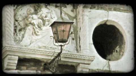 Lantern and Statue. Vintage stylized video clip Live Action