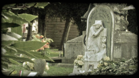 Italian Cemetery 5. Vintage stylized video clip Live Action