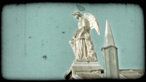 Italian Cemetery 11. Vintage stylized video clip Live Action