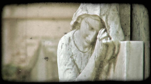 Italian Cemetery 24. Vintage stylized video clip Live Action