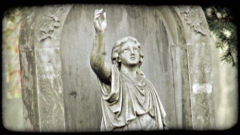 Italian Cemetery 26. Vintage stylized video clip Live Action