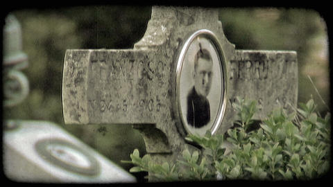 Italian Cemetery 28. Vintage stylized video clip Live Action