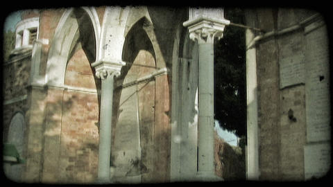 Italian Cemetery 34. Vintage stylized video clip Footage