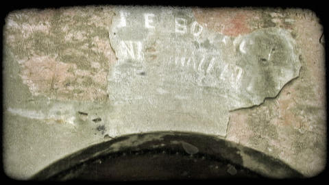 Faded Letters. Vintage stylized video clip Footage