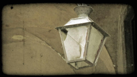 Hanging Lantern. Vintage stylized video clip Stock Video Footage