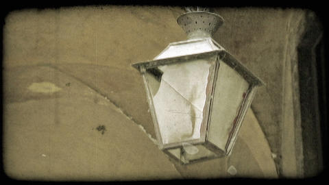 Hanging Lantern. Vintage stylized video clip Live Action