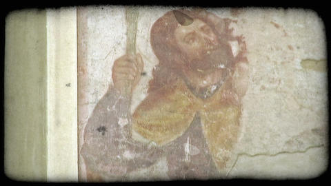 Wall Painting. Vintage stylized video clip Footage