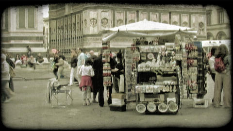 Italian Plaza 10. Vintage stylized video clip Live Action