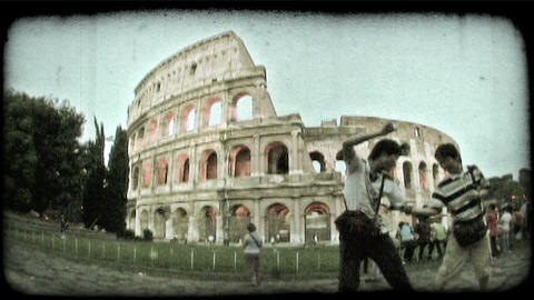 Colosseum 5. Vintage stylized video clip Footage