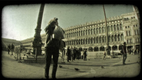 Italian Plaza 7. Vintage stylized video clip Live Action