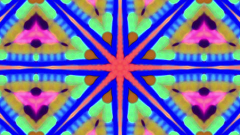 Beautiful Floral Iridescent Kaleidoscope Loop Background Animation