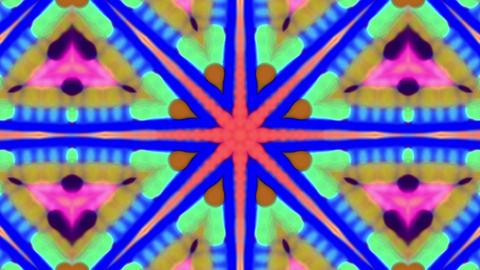 Beautiful Floral Iridescent Kaleidoscope Loop Background Animation